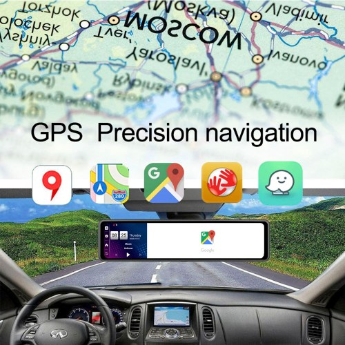 12'' 2CH Car DVR Dashboard Camera Android 8.1 4G Rear View Mirror 1080P WiFi GPS