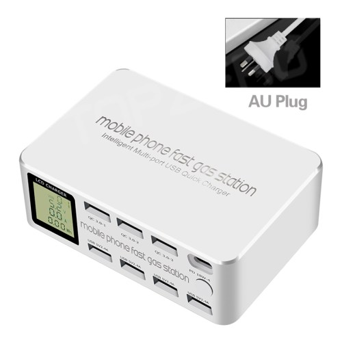100W 8 Ports Quick Charge 3.0 USB Charger Type C HUB Fast Charge QC 3.0 PD