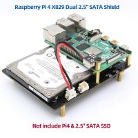 "Dual 2.5"" SATA HDD/SSD Storage Expansion Board with USB 3.1 for Raspberry Pi"