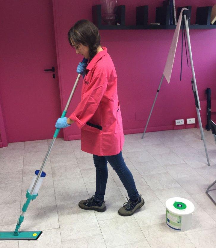 pulizia negozi reggio emilia - pavimenti