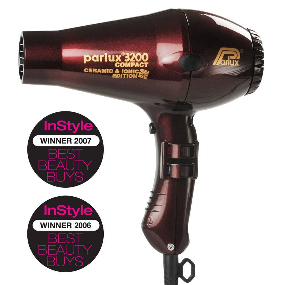 Parlux 3200 Ionic Ceramic Compact Hair Dryer Chocolate