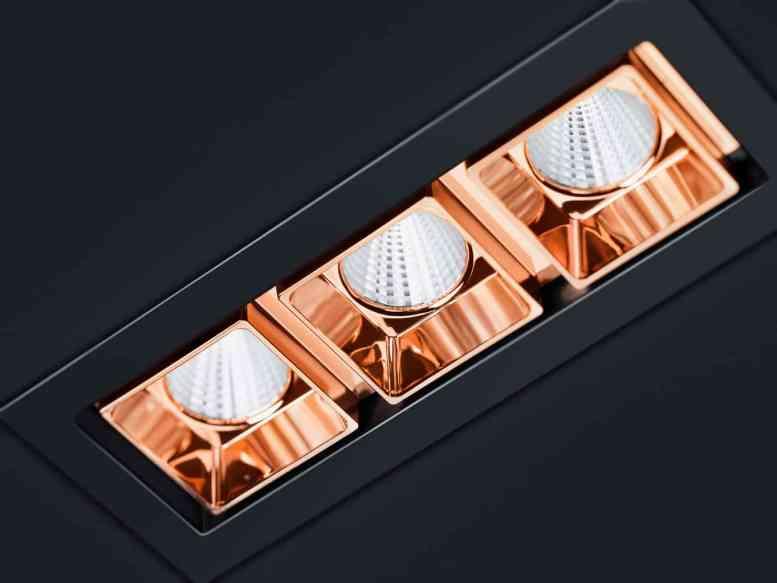 Eine Lichtleistung von bis zu 3000 Lumen macht dieses Portfolio zu einer echten Alternative für Anwendungen, bei denen herkömmliche Downlights bisher meist die einzige Option waren. Und es ist eine stilvolle Alternative. (Bild: Zumtobel Lighting GmbH/EOOS)