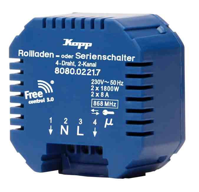 Die Free Control 3.0 Empfänger, verschlüsselt und bidirektional, für einen sicheren und komfortablen Betrieb. (Bild: Heinrich Kopp GmbH)