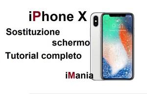 iphone x sostituzione vetro touch lcd imania assistenza varese
