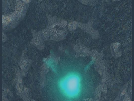 チェバルクリ湖の湖底の写真