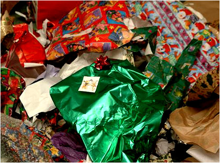 Image result for the aftermath of unwrapping gifts