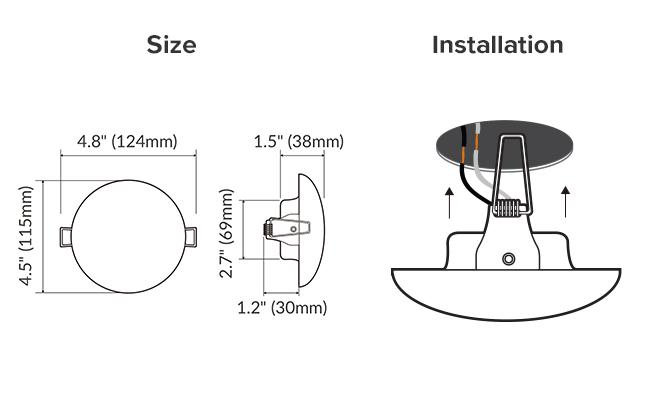 12 volt led lights for rv interior, flush mount ceiling light