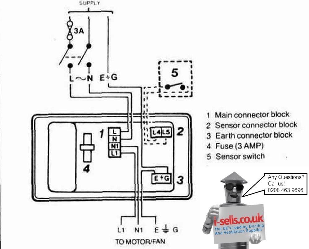 vent fan wiring diagram