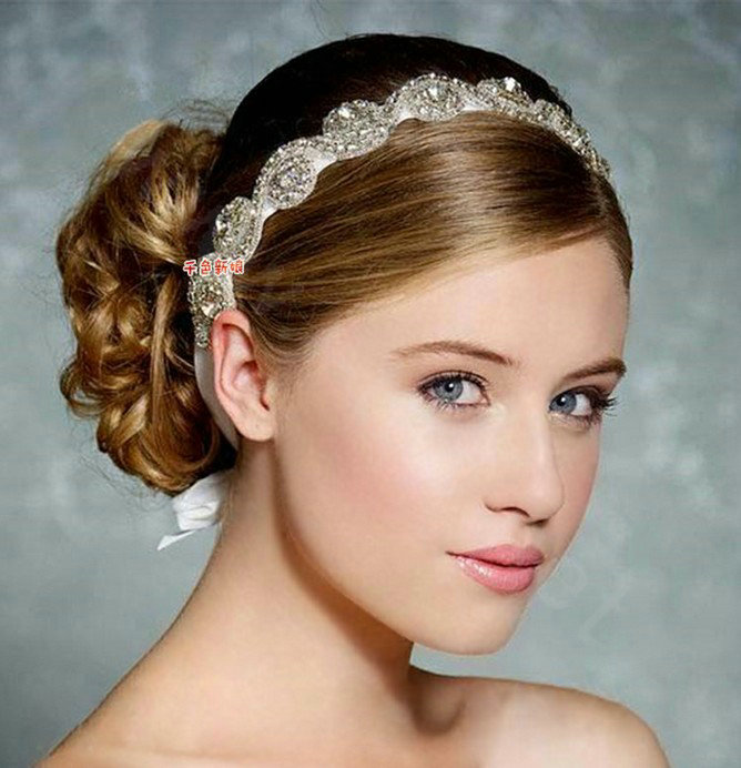 Buy Wholesale Luxury Rhinestone Lace Hairwear Ribbon