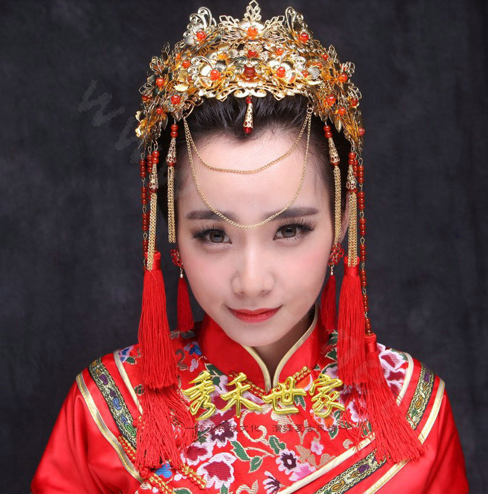 Buy Wholesale New Luxury Costume Bride Chinese Style Gold