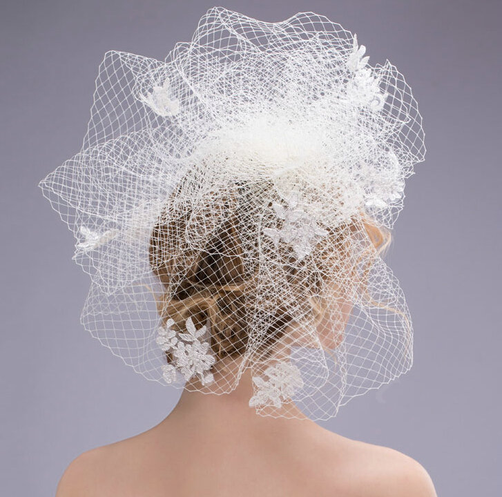 Buy Wholesale Over Size Pearl Crystal Gauze Bridal