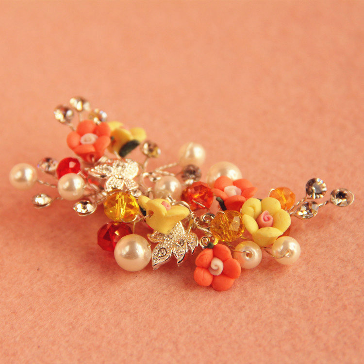 Buy Wholesale 3 Piece Retro Frosted Sliver Crystal Pearl