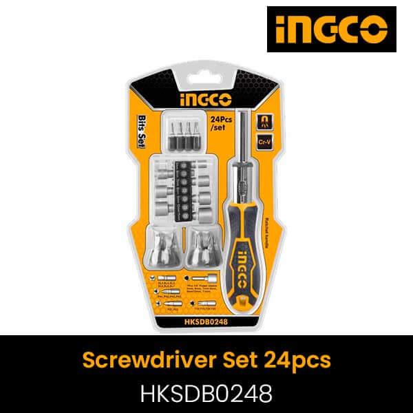 Ingco 24pcs screwdriver set HKSDB0248