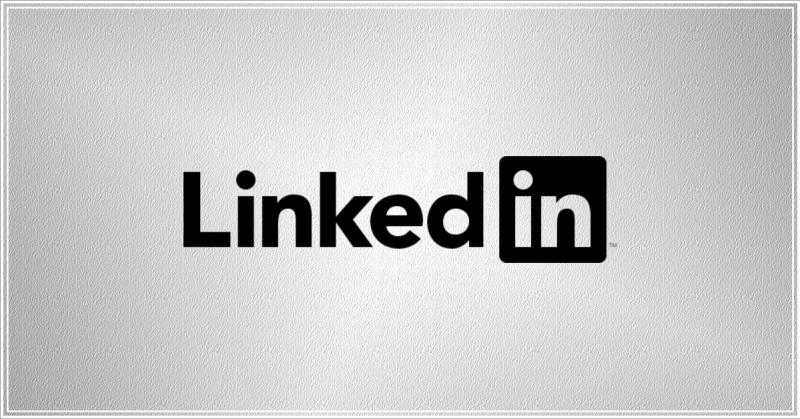 Logo LinkedIn Preto
