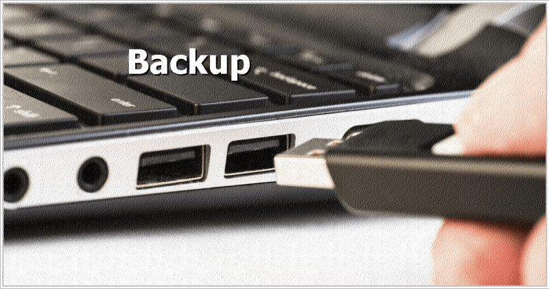 Pendrive notebook - Backup