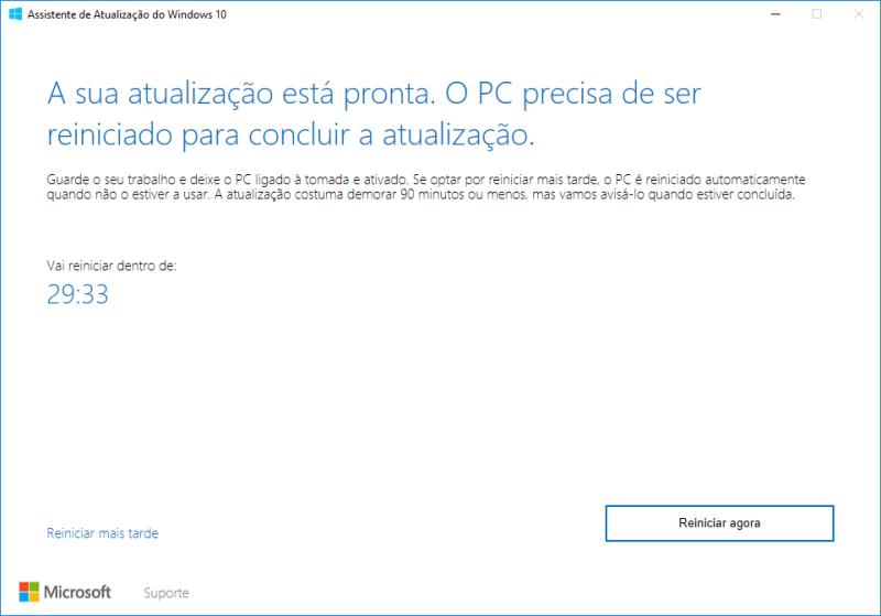 Assistente de Atualização do Windows 10