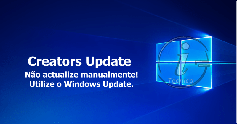 Creators Update - Utilize o Windows Update
