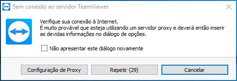 Sem conexão ao servidor TeamViewer