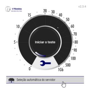 Selecção automática do servidor - nPerf