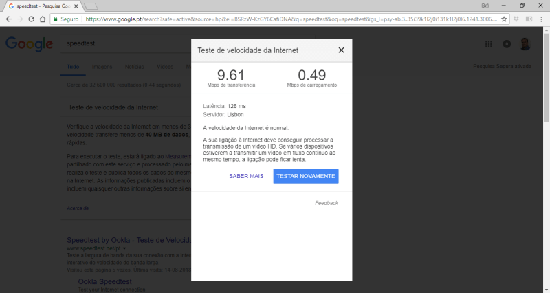 Speedtest Google