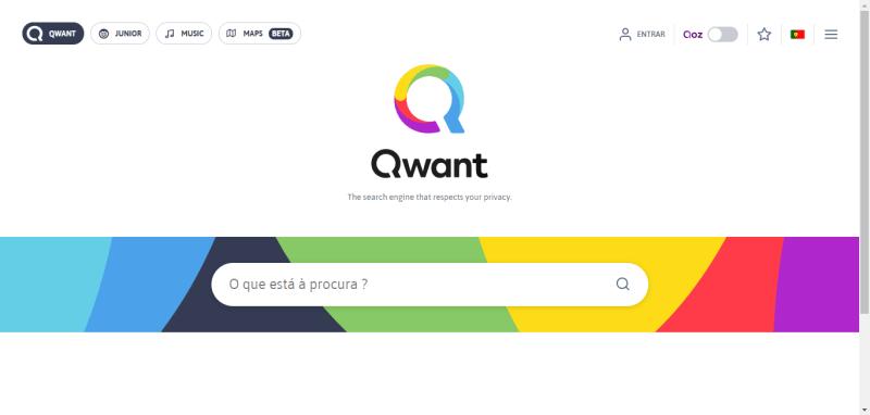 Qwant - Motor de busca que respeita a sua privacidade