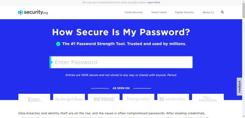 Palavra-passe é segura - How Secure is my password