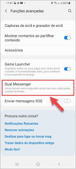 Samsung One UI 3 - Dual Messenger