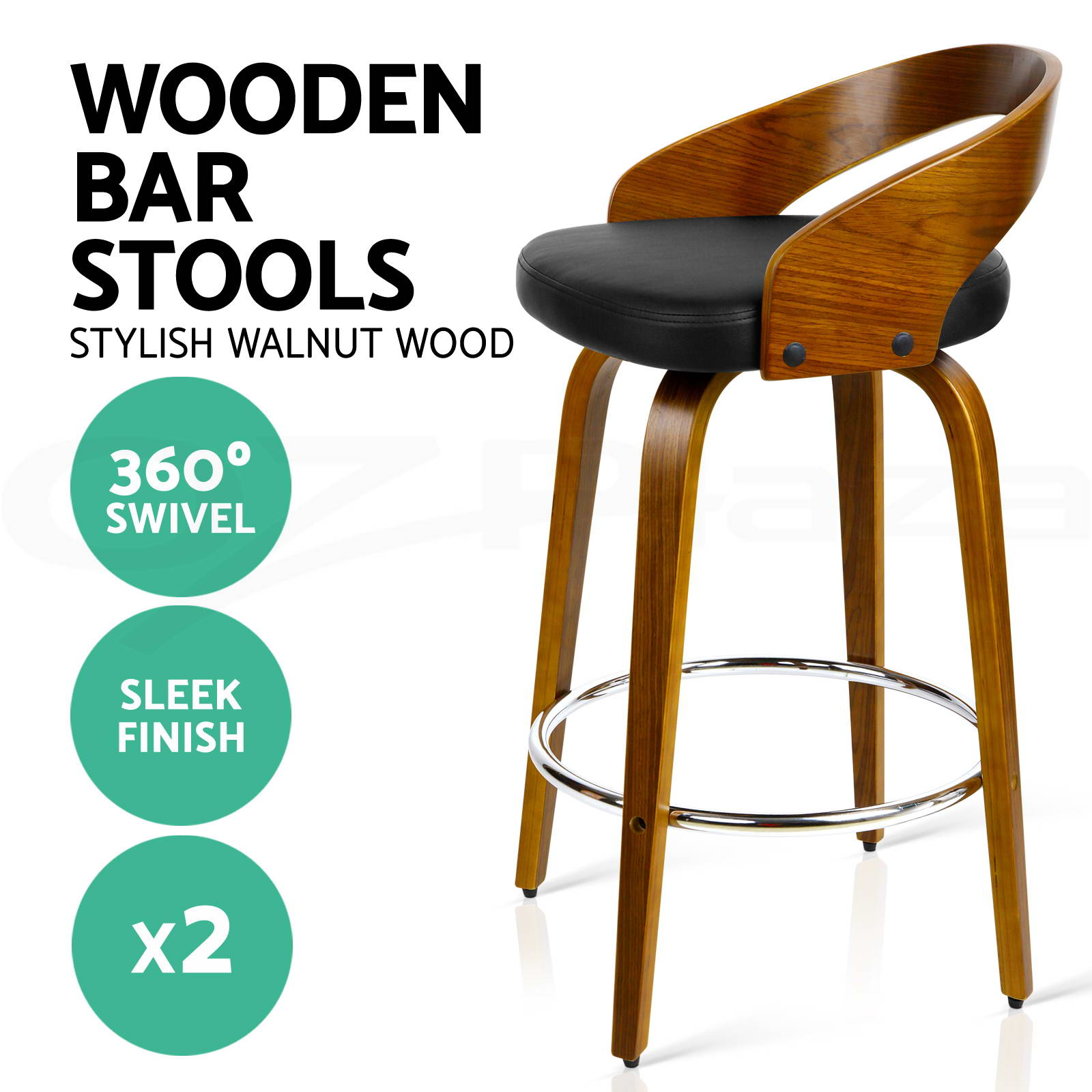 wooden bar stool chairs child patio chair 2x stools swivel barstool kitchen dining