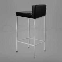 Bar Stool Chair Legs Desk Eames 2x Pu Leather Modern Kitchen Barstool