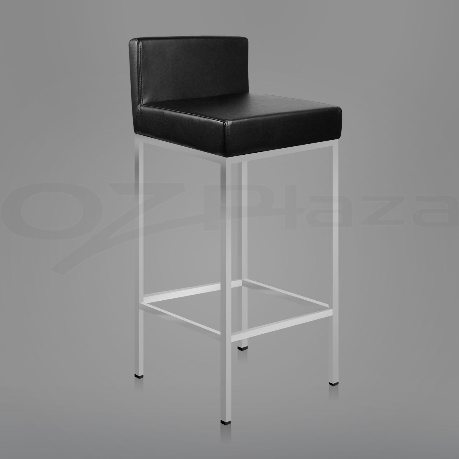 bar stool chair legs zero gravity cup holder 2x pu leather modern kitchen barstool