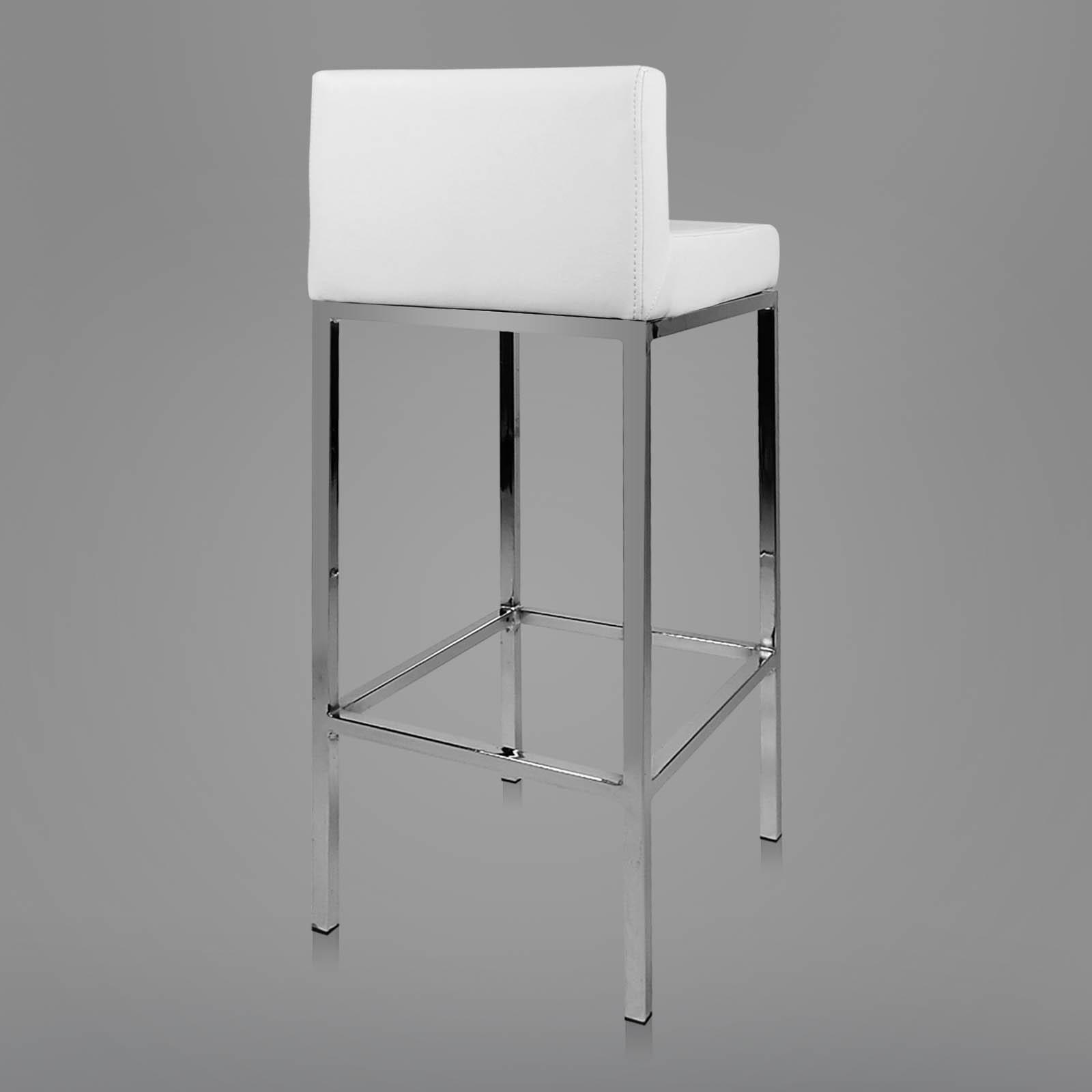 bar stool chair legs vecta office 2x pu leather modern kitchen barstool