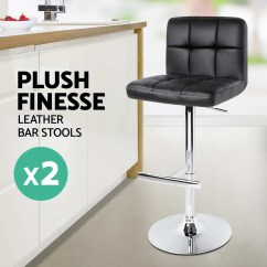 Kitchen Chair Covers Cork The Range 2x Leather Bar Stool Noel Dining Chairs Swivel