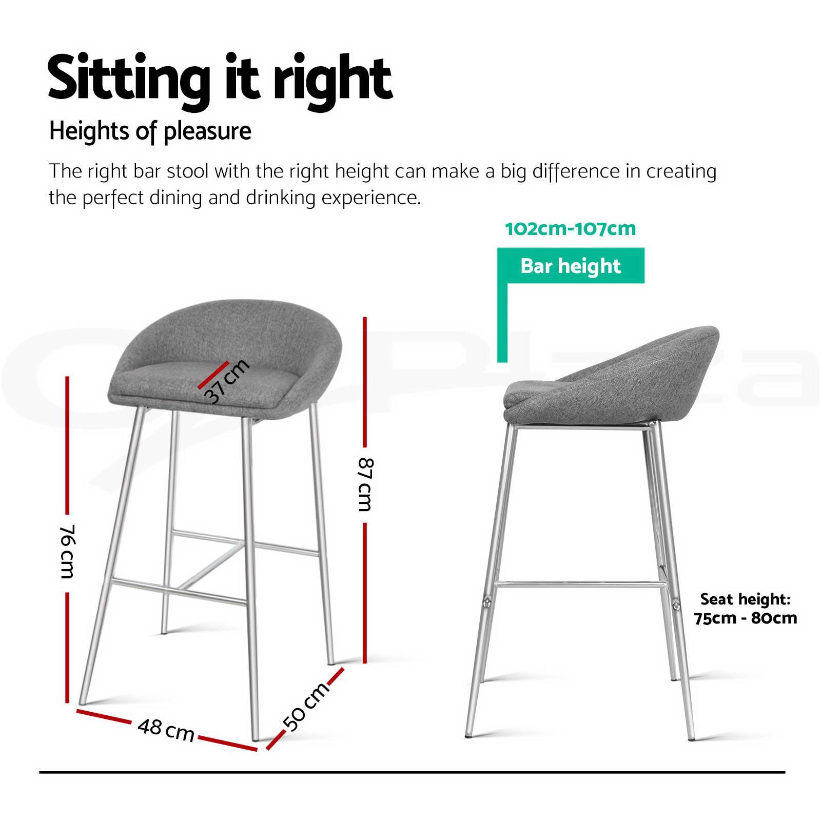 bar stool chair legs best reclining chairs 2x fabric barstool kitchen dining chrome