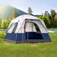 Weisshorn 4 Person Family Camping Tents Cabin Canvas Swag ...