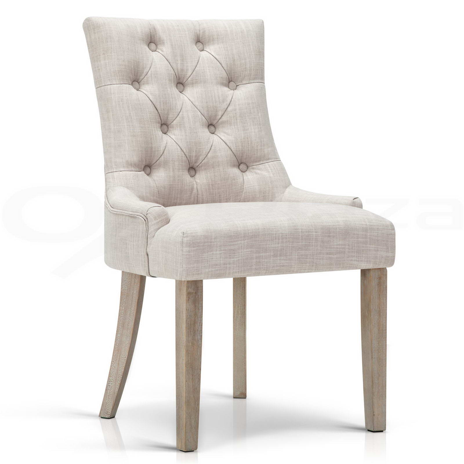 CAYES DINING Chair Linen Fabric French Provincial Wood