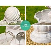 Solar Power Fountain Feature Bird Bath Outdoor Water ...