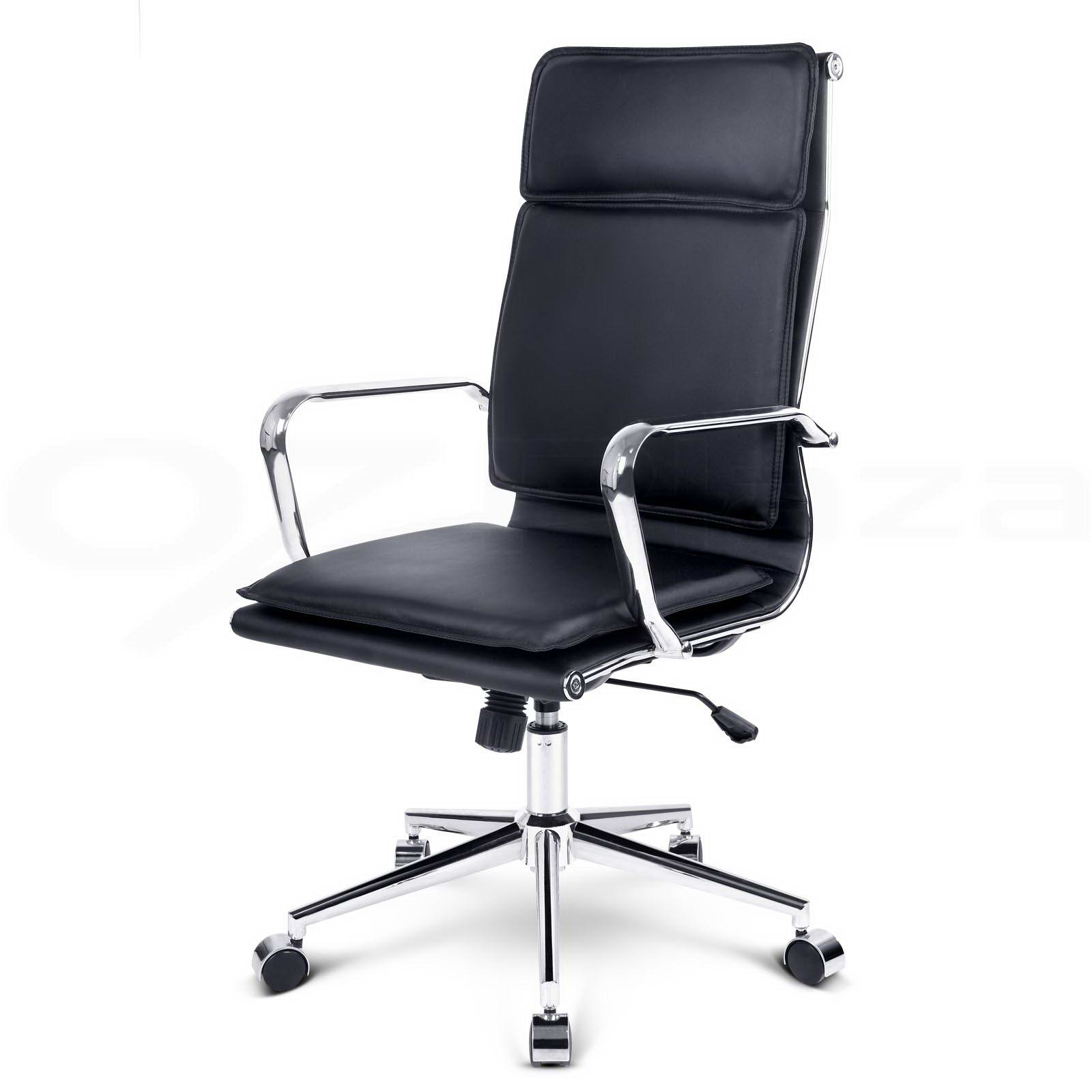 reclining office chairs australia chair cover rental charlotte nc executive computer pu faux leather recliner