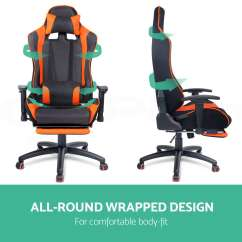 Mesh Gaming Chair Dining Covers Black New Executive Office Racing Computer Pu