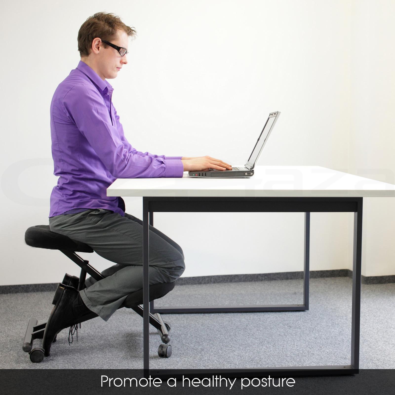 posture chair ebay power lifts adjustable kneeling office stool stretch knee yoga