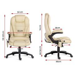 Reclining Office Chairs Australia Gym Equipment Chair 8 Point Massage Racing Executive Heat