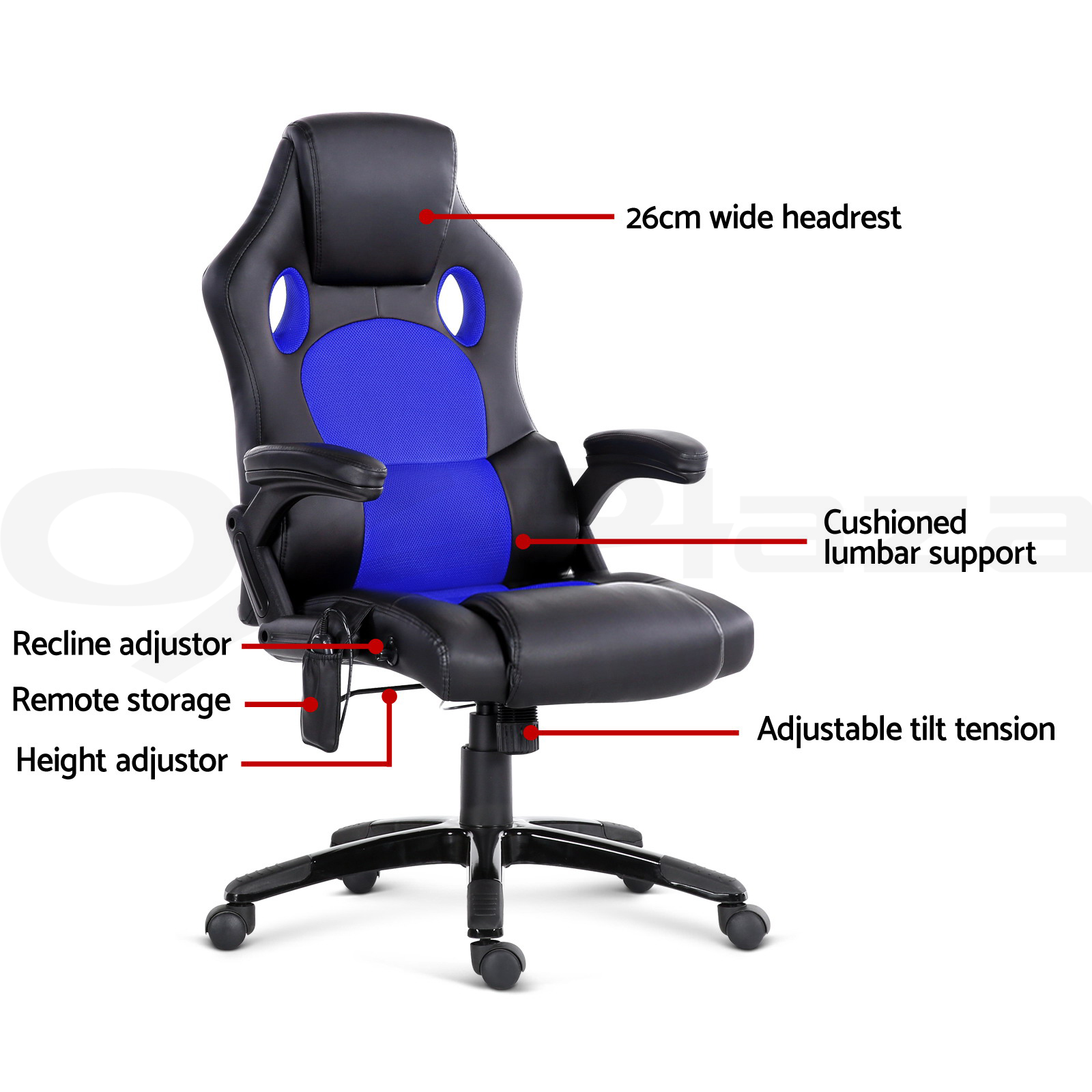 racing office chairs hanging chair near me 8 point massage executive heat