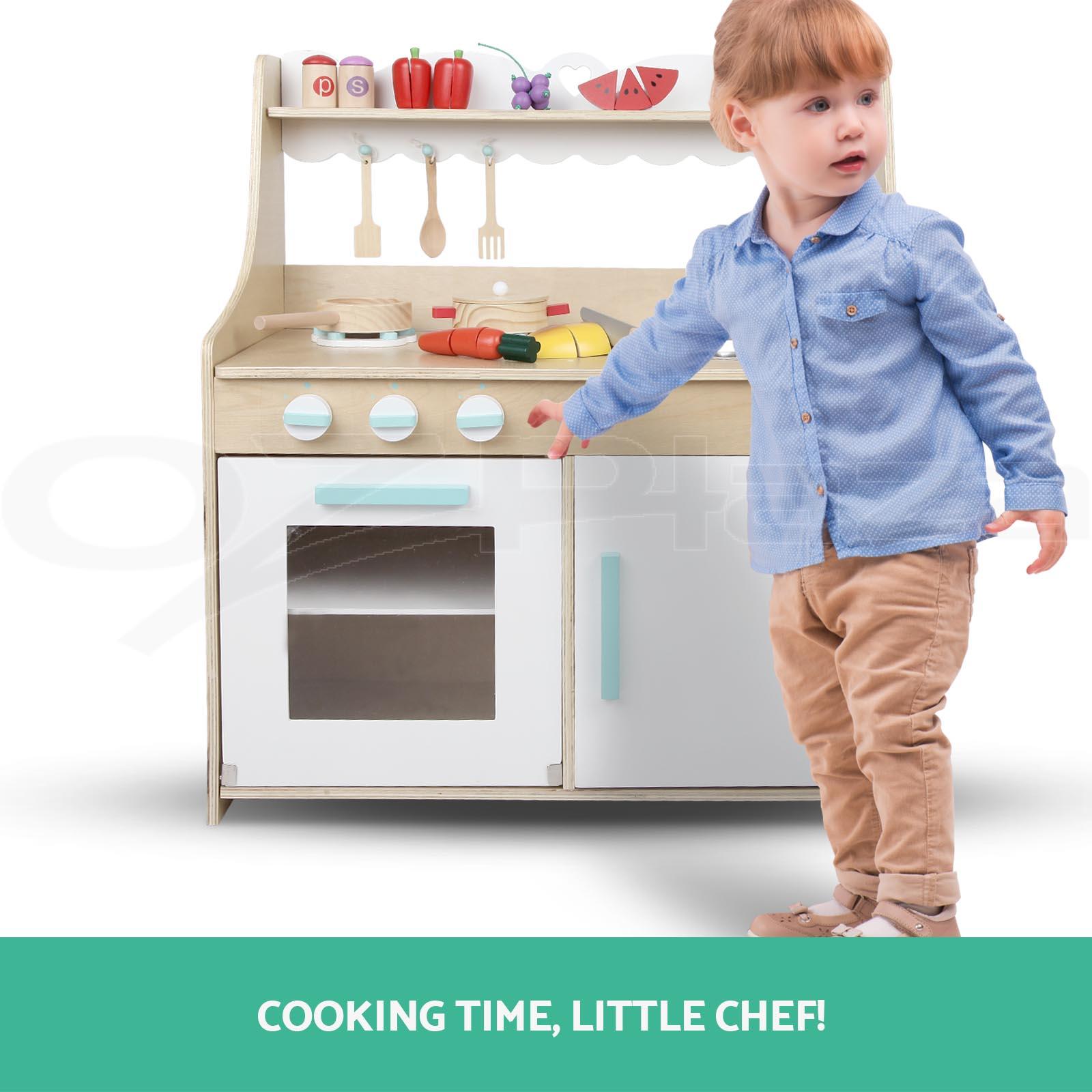 play kitchen for toddler kraftmaid kitchens keezi kids wooden pretend set toy