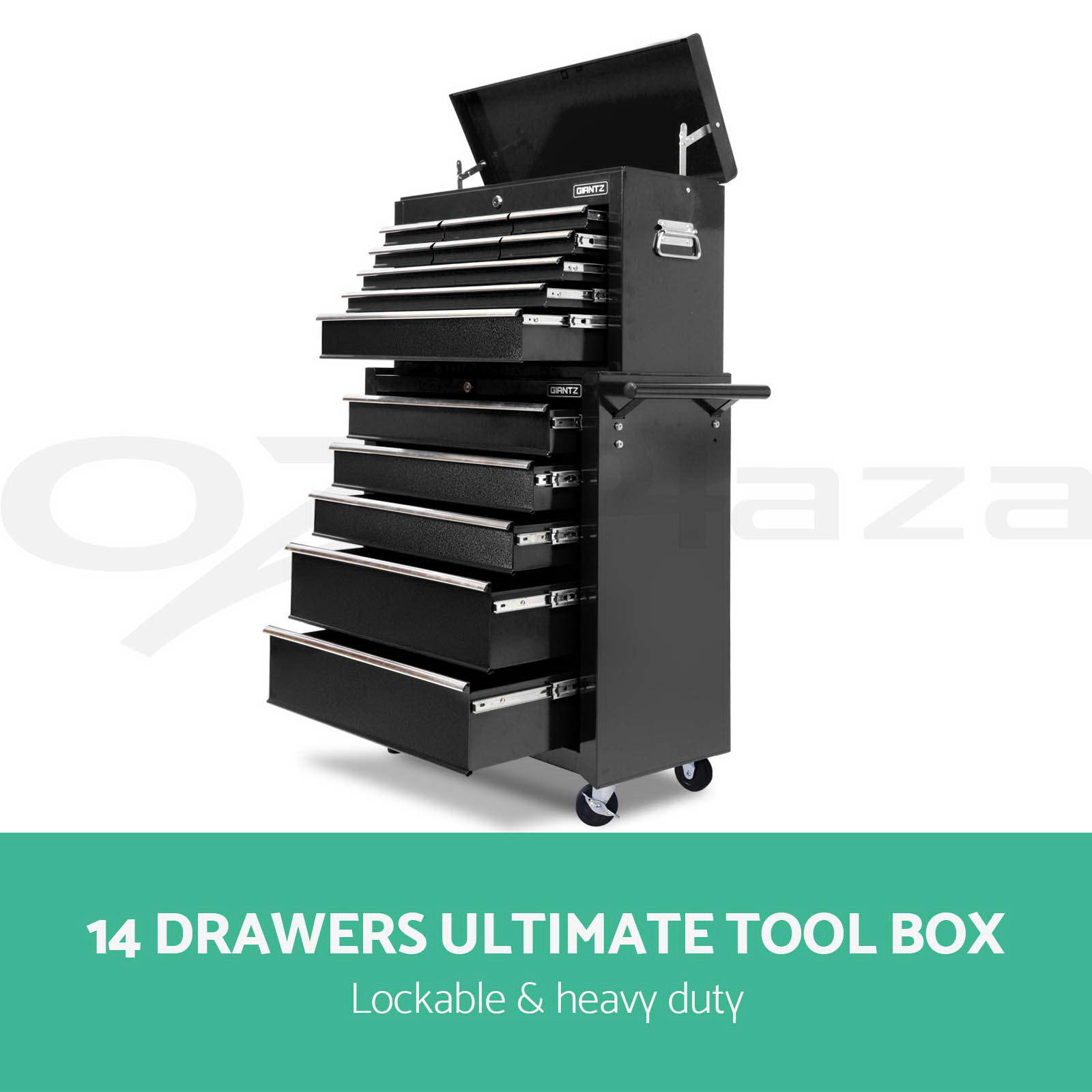 Giantz 14 Drawers Mechanic Tool Box Storage Cabinet Chest