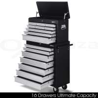 Giantz 14 Drawers Tool BOX Chest Cabinet Mechanic Trolley ...