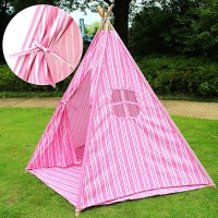 Kids Teepee Tent Children Home Canvas Pretend Play ...