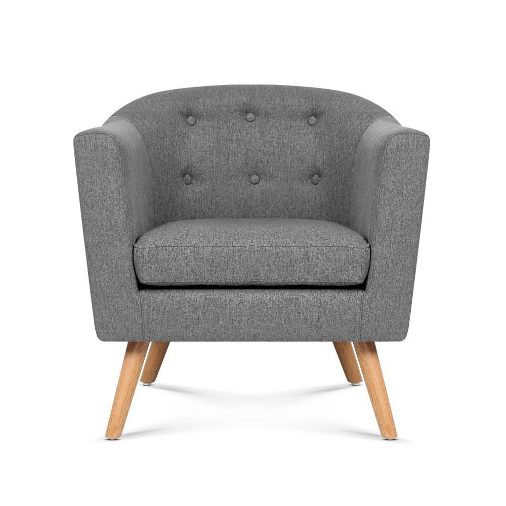 Artiss ADORA Armchair Tub Dining Chair Single Accent Sofa