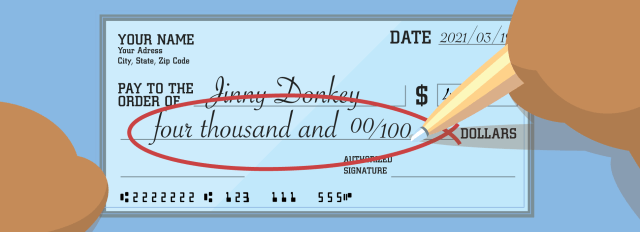 How to Write a Chase Check (with Example)