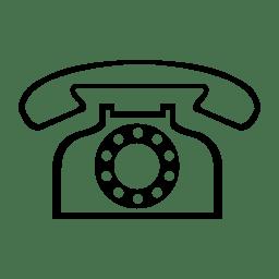 White Telephone Smiley Face Unicode Character U+260F