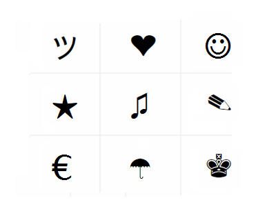 facebook symbols ヽ o