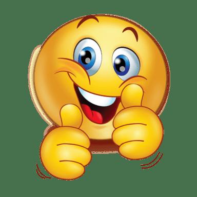 cheer happy two thumbs